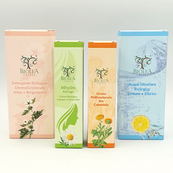 packaging per prodotti di cosmetica