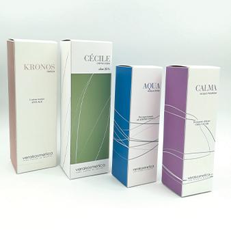 packaging per linea cosmesi